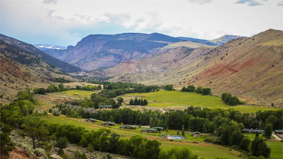 CM Ranch nestled in Dubois, WY, by Kristin Foster