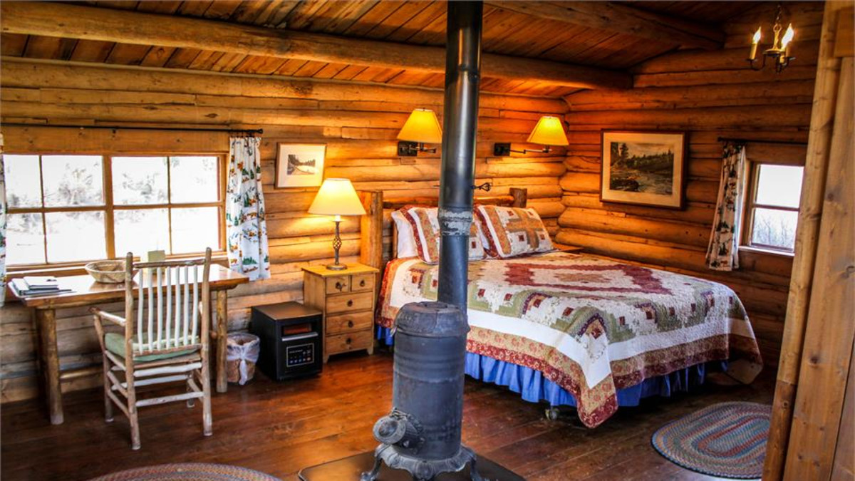 Cozy bedroom at the CM Ranch, Dubois, WY, by Kristin Foster