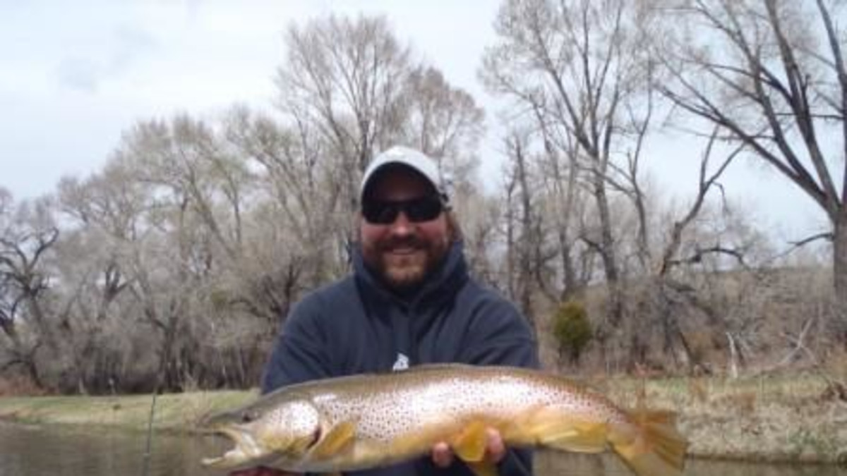 Jeremy Smith catches a monster brown