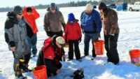 Hard Water School ice fishing class