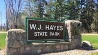 DNR, Hayes State Park, Entrance Sign, Spring
