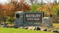 DNR, Maybury State Park, Sign, Spring