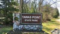 DNR, Tawas State Park, Sign, Spring