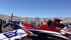 Stunt plane at Wings & Wheels Airshow, photo by Tracey Dobbins.JPG