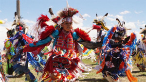 Young powwow dancer in Wind River Country, photo by Jennie Hutchinson