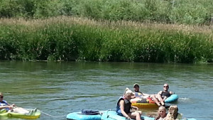 Floating the river at Platte River RV & Campground