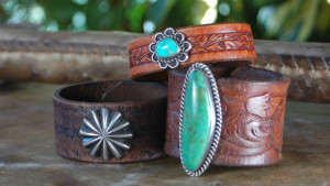 Bracelets from Repurposed Native American Pawn Pieces and Vintage Western Belts