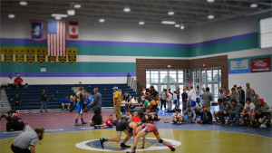 Yellowstone Regional Wrestling Dual held at the Riley Arena