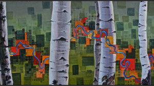 S. Steiss painting entitled Aspens