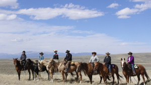 It's all about the good horses, the active riding, and the wild, wide-open spaces of Wyoming!