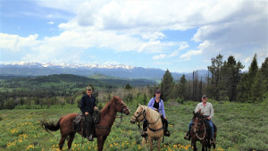 Beautiful scenery by horseback near Jackson Hole WY