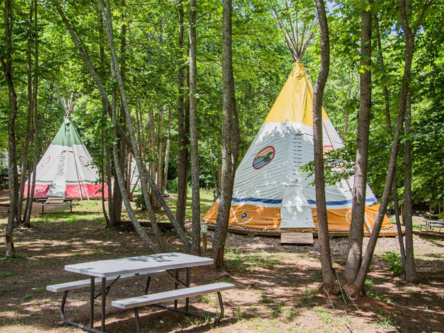 Teepee Camping at North Georgia Canopy Tours | Official