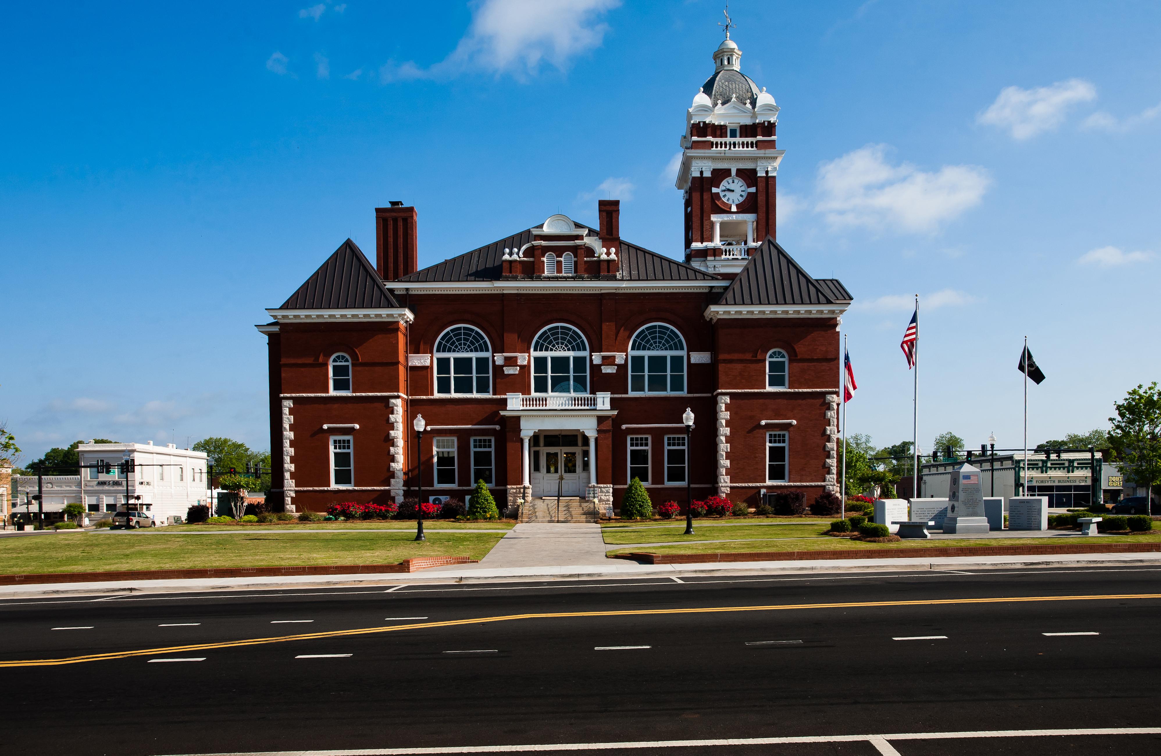 Prime Monroe County Courthouse Official Georgia Tourism Travel Interior Design Ideas Skatsoteloinfo