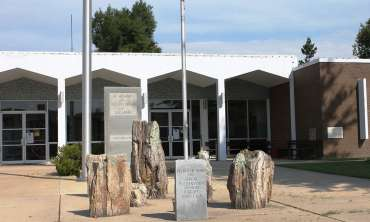 Petrified Wood Display-Clay County Courthouse=Piggott.jpg