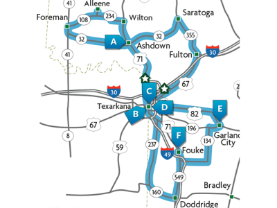 Southwest Arkansas Motorcycling Tour Map.png
