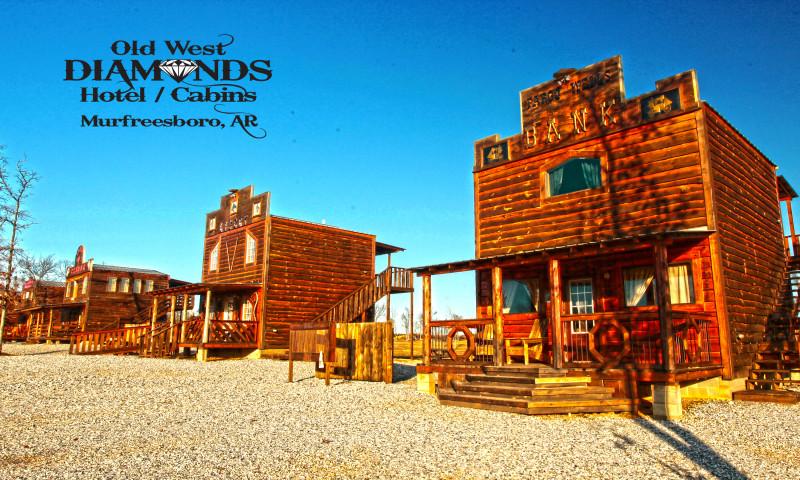 Diamonds Old West Hotel Cabins Arkansas Com