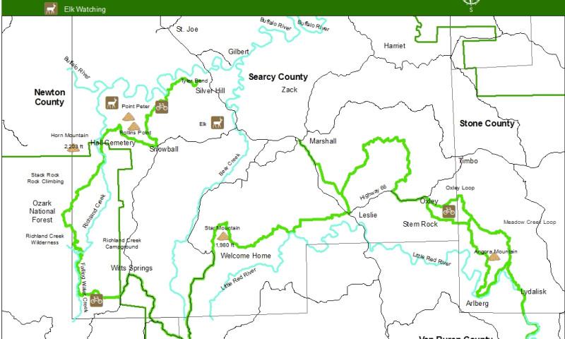 Ozarks Arkansas Map.Ozark Grinder Trail Arkansas Com