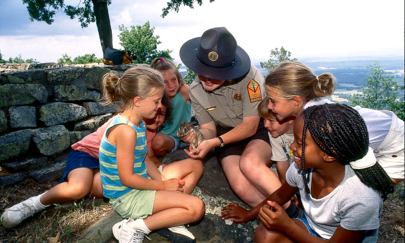 Mount Nebo State Park park interpreter with young park visitors.jpg