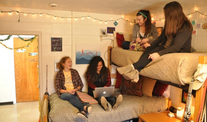 Female students in dorm at Milligan University