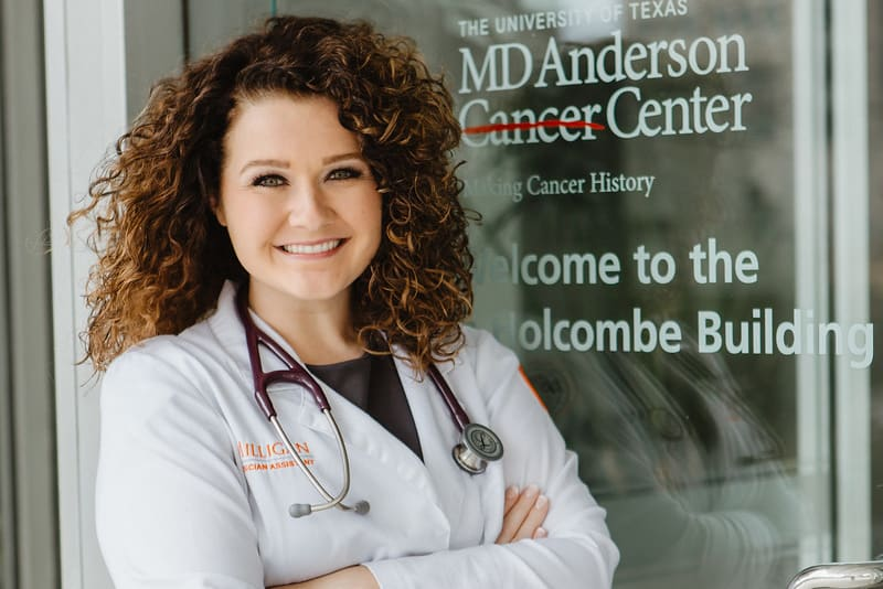 Milligan PA student Mattie Rogers at MD Anderson Cancer Center.