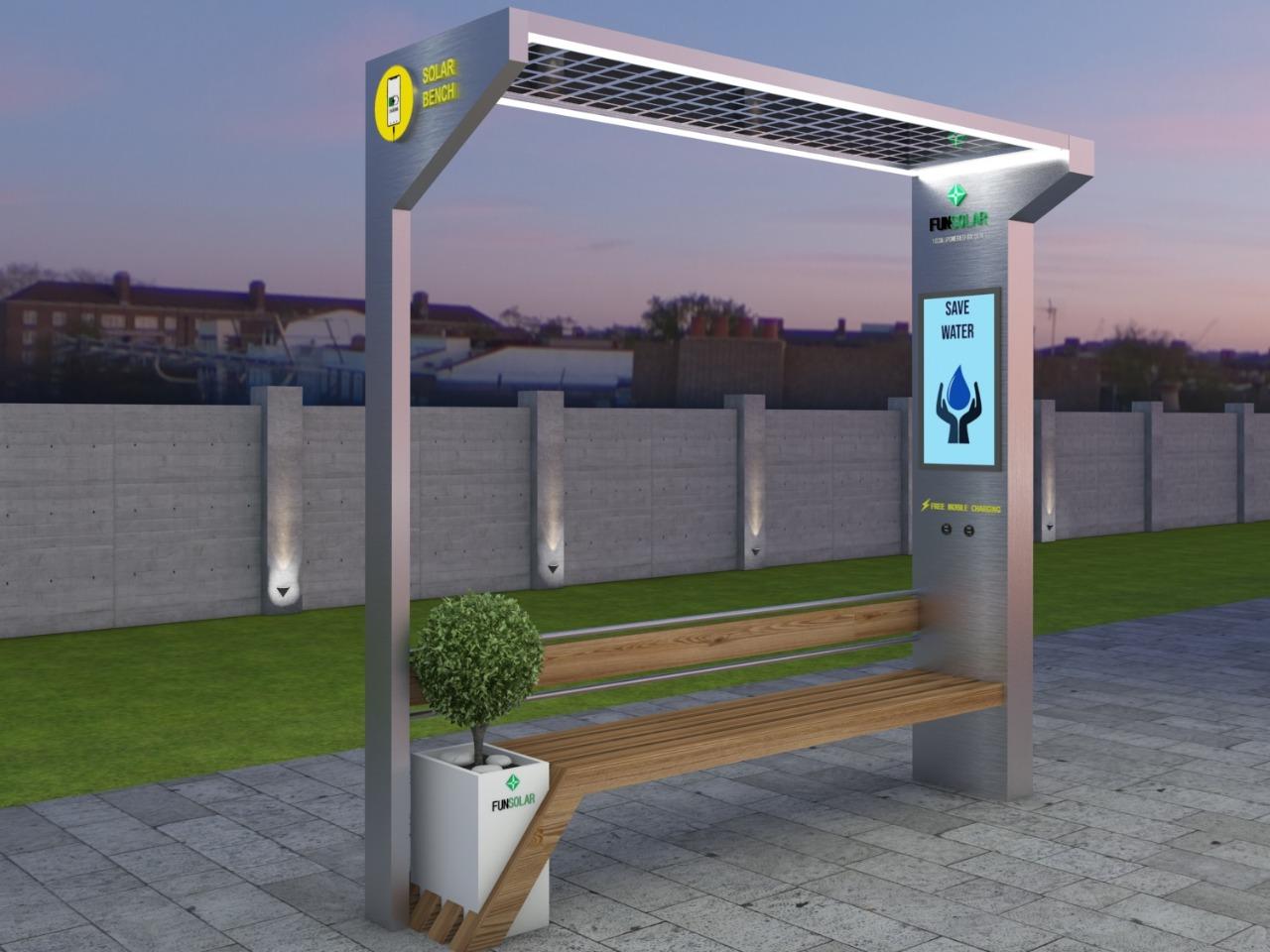 Solar Charging Bench