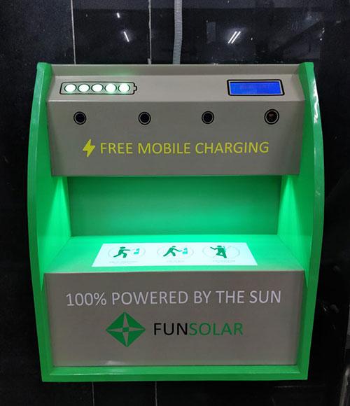 Solar Mobile Charging Kiosk