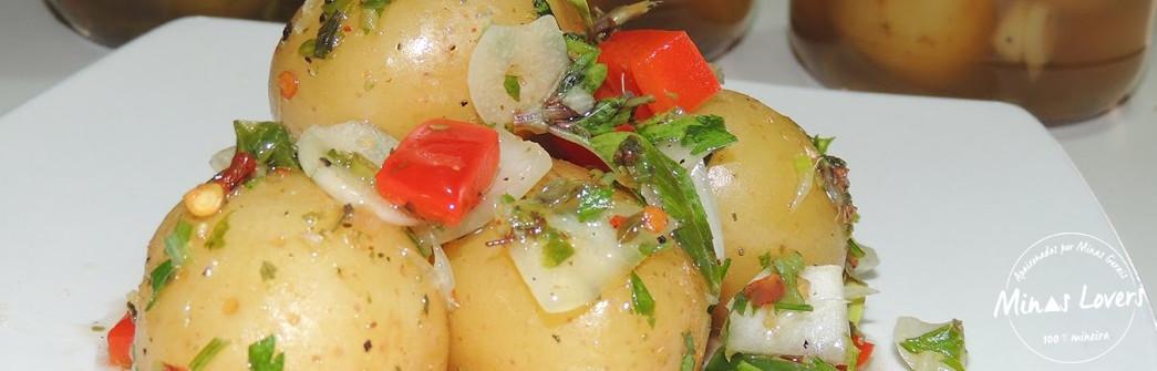 Como são feitas as conservas de Batatas com Pimenta