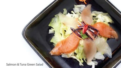 Salmon and Tuna Green Salad