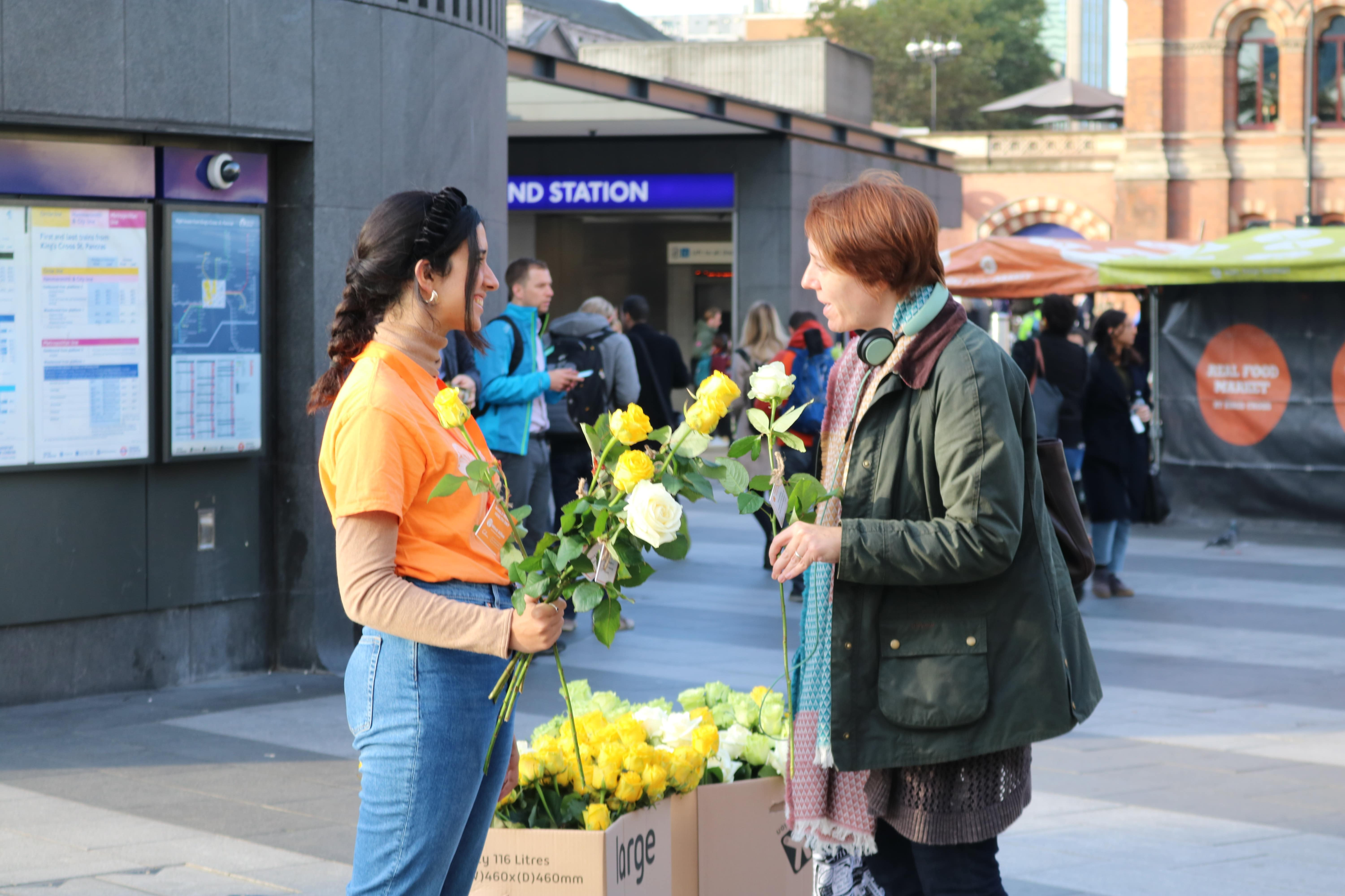 Mental Health Day 2019 Roses distribution