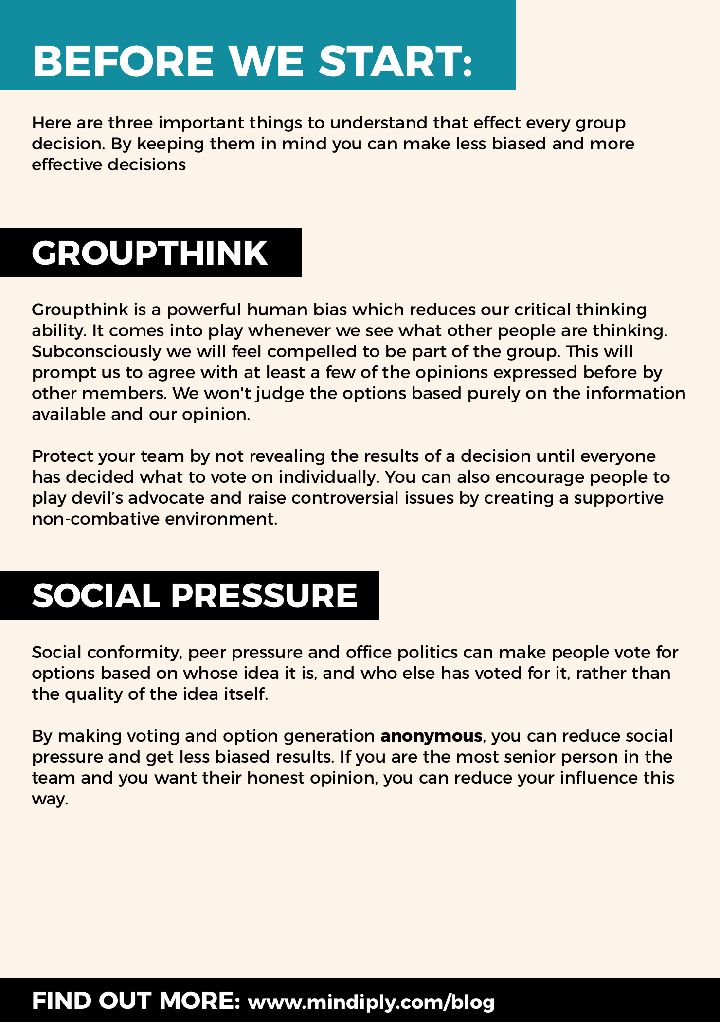 Decision making facts - page 1