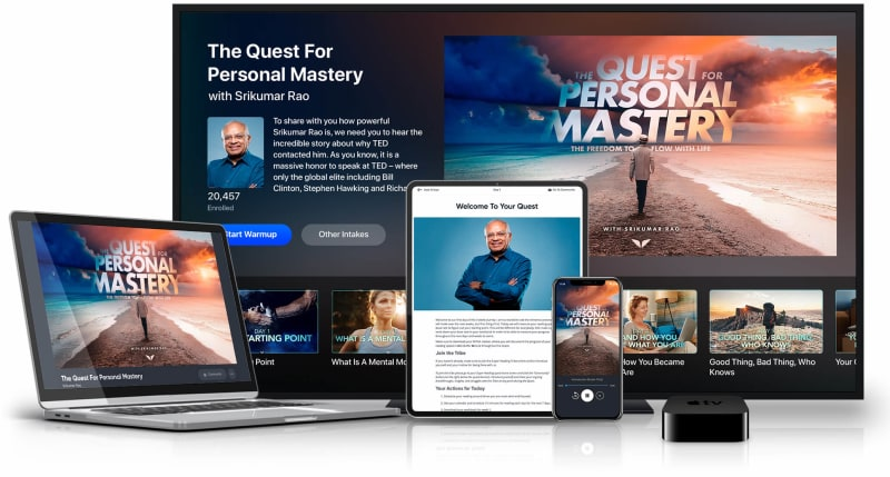 The Quest For Personal Mastery on multiple devices