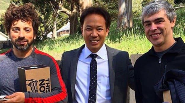 Jim Kwik with Sergey Brin & Larry Page