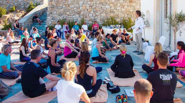 Jeffrey Allen teaching Energy Body Awareness at A-Fest, Mykonos Greece