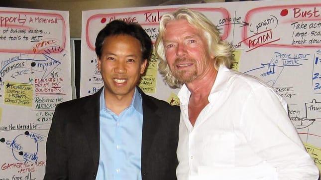 Jim Kwik with Richard Branson