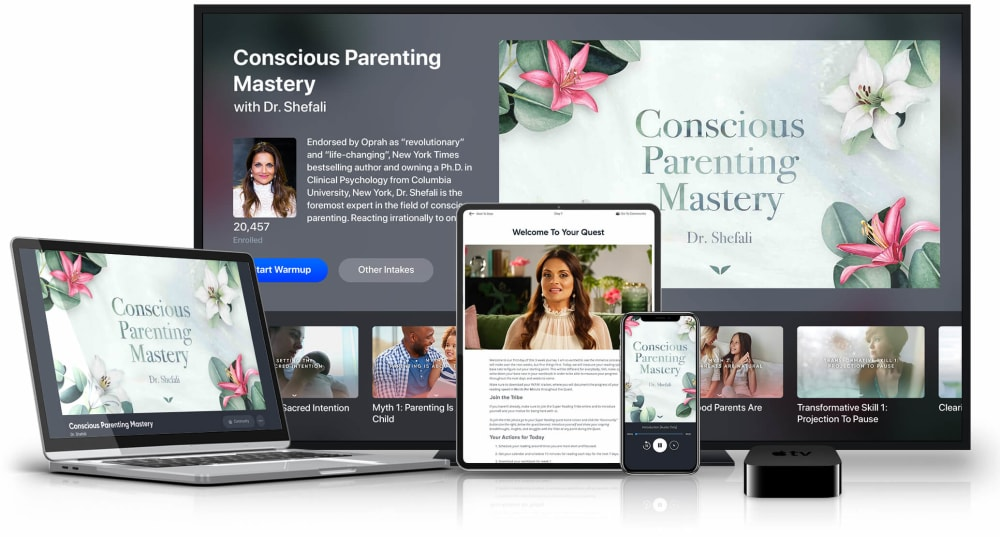 Conscious Parenting on multiple devices