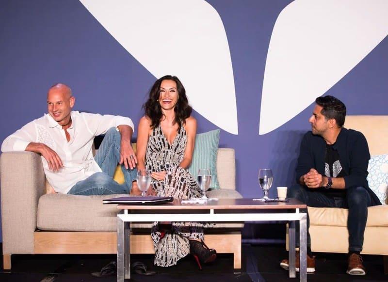Jon Butcher, Missy Butcher & Vishen Lakhiani at Mindvalley event