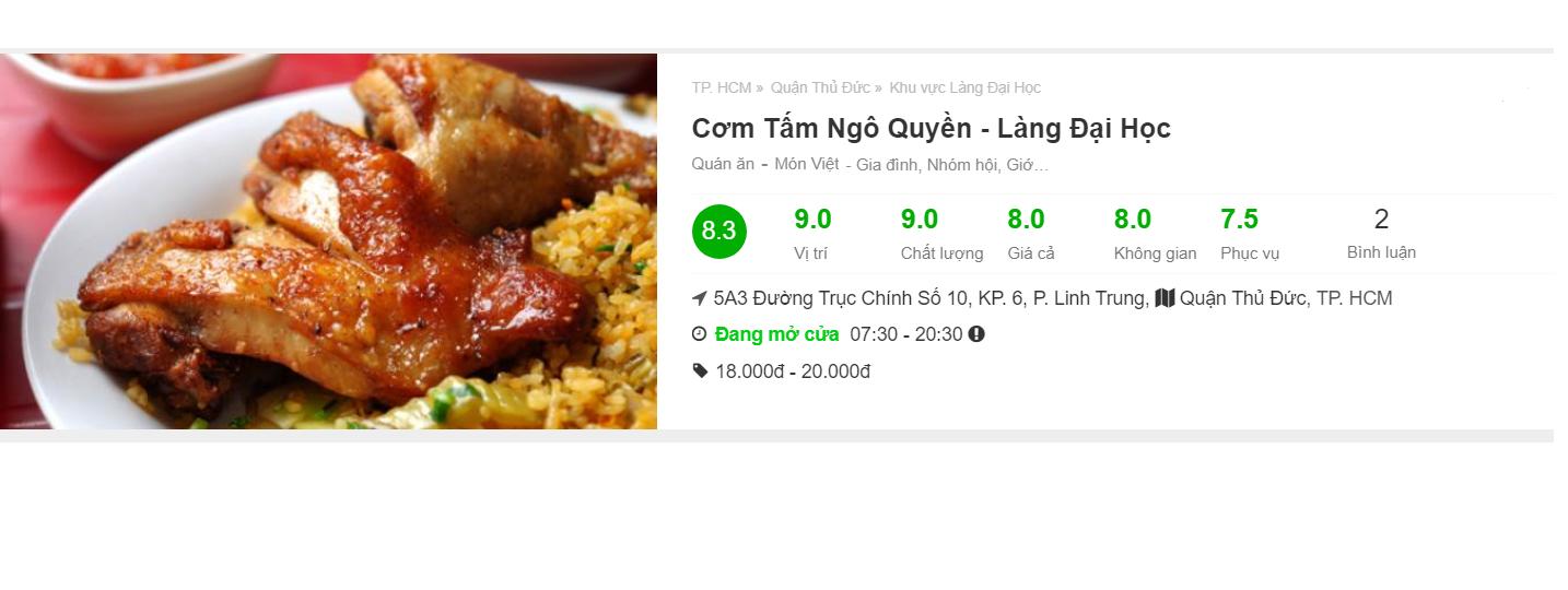 (Nguồn: foody.vn)  Cơm tấm Ngô Quyền