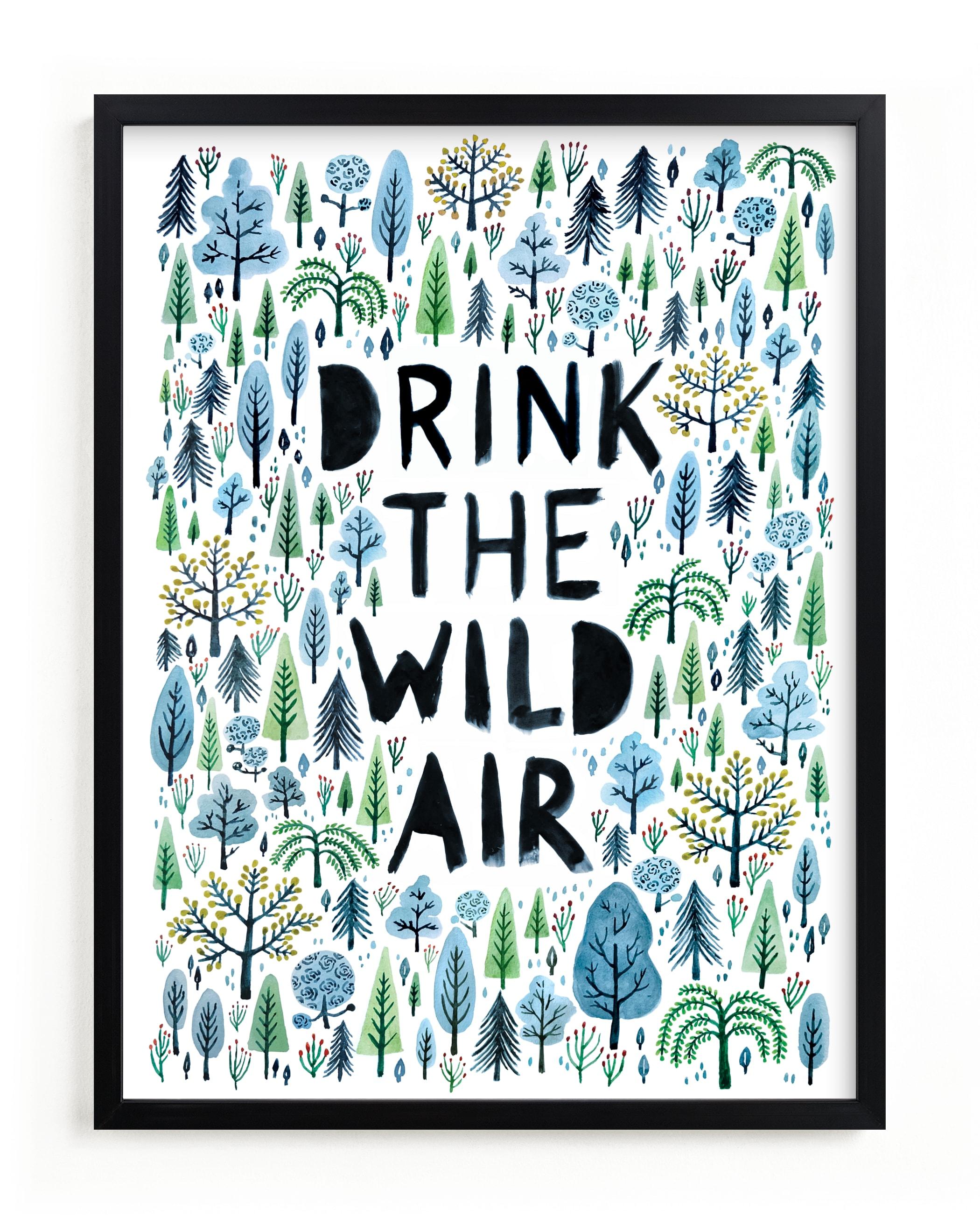 Drink the Wild Air Children's Art Print