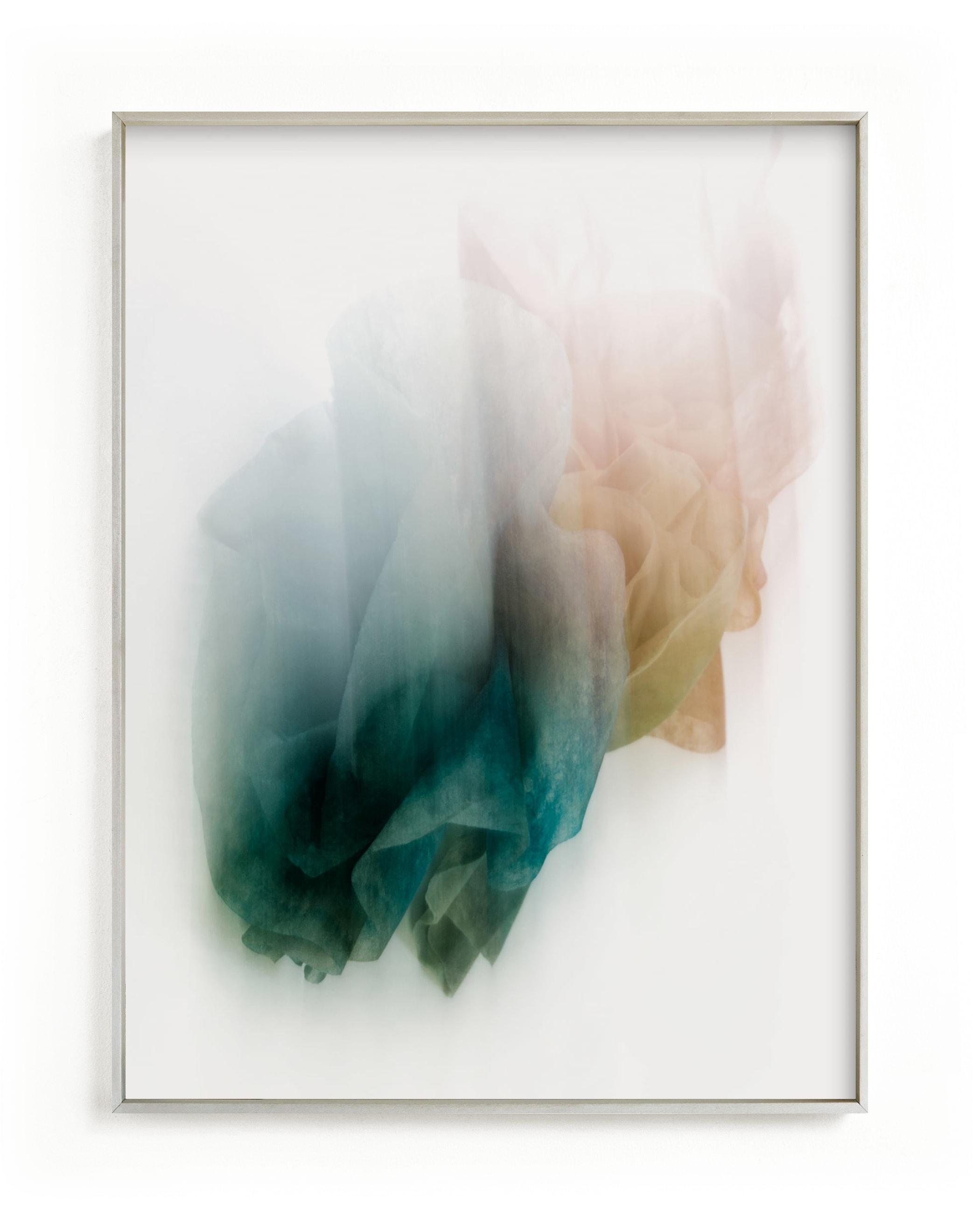 This is a blue art by Karen Kardatzke called Coffee Filtered Light.