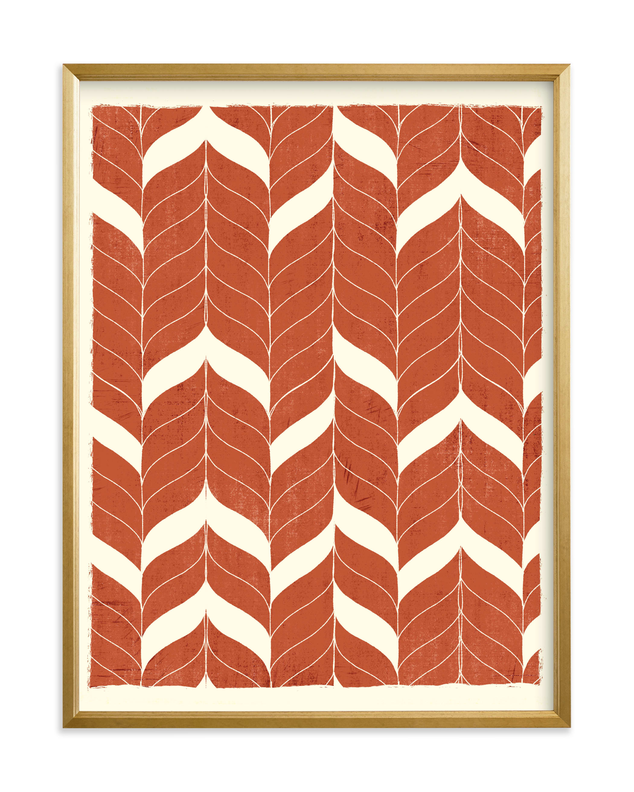 """Chevron Flow"" - Limited Edition Art Print by Angel Walker in beautiful frame options and a variety of sizes."