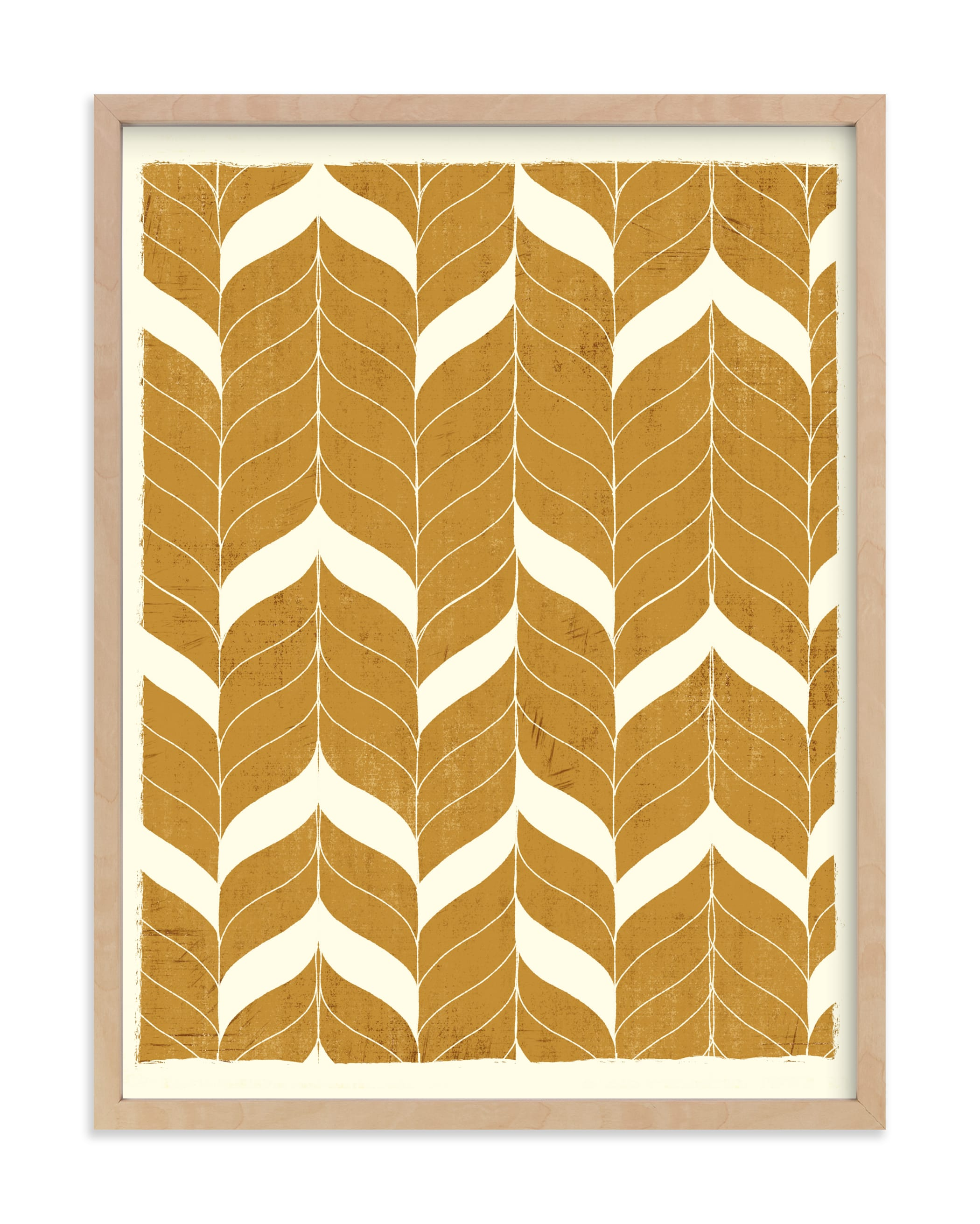 This is a ivory art by Angel Walker called Chevron Flow.