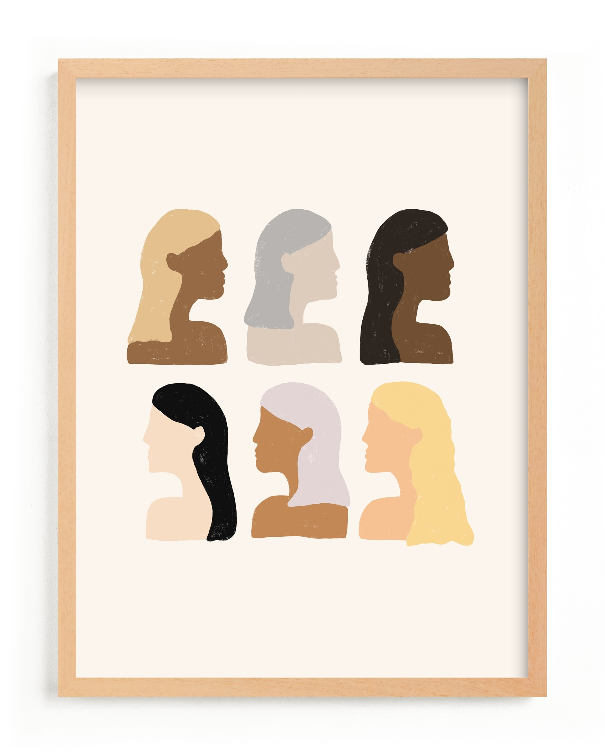This is a brown art by Amanda Houston called Girls Support Girls with standard.