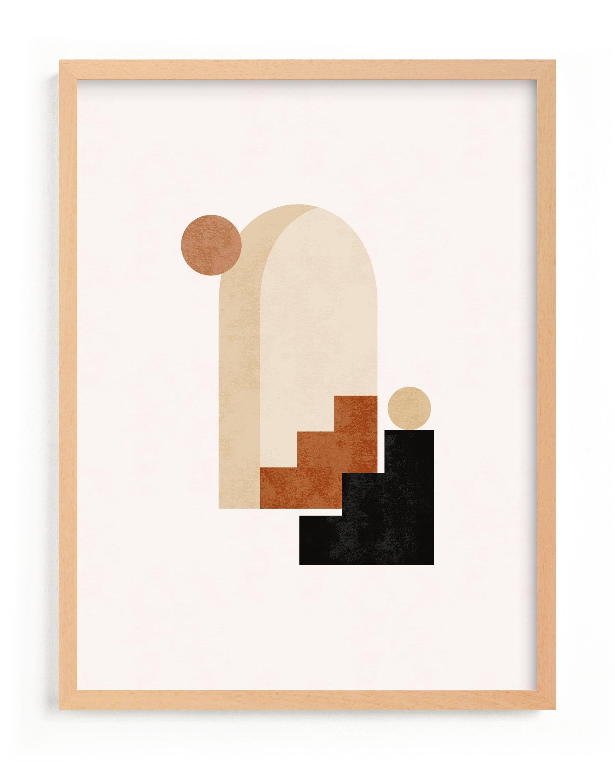 This is a brown art by Iveta Angelova called Rustic Geometry 1.