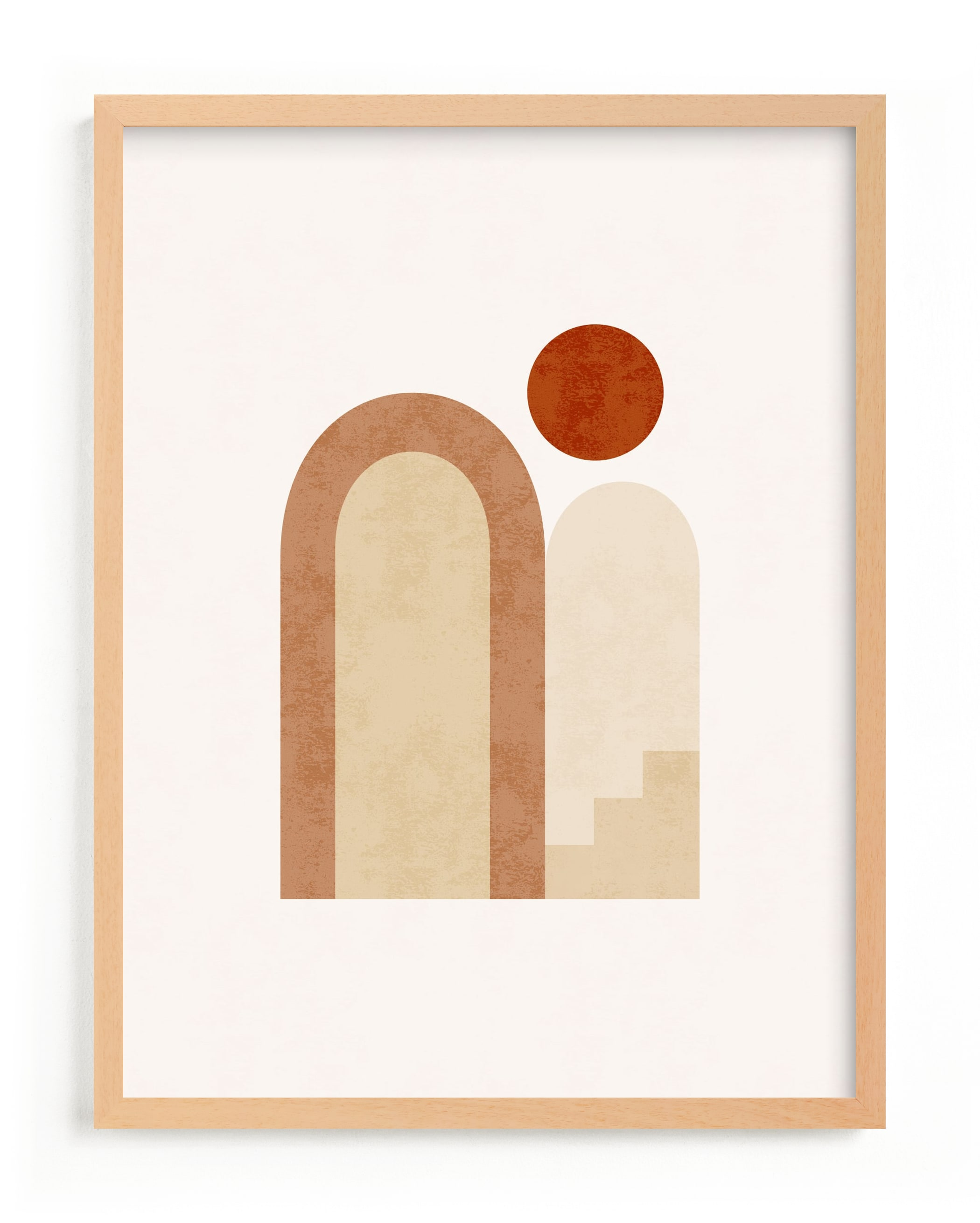 This is a brown art by Iveta Angelova called Rustic Geometry 2.