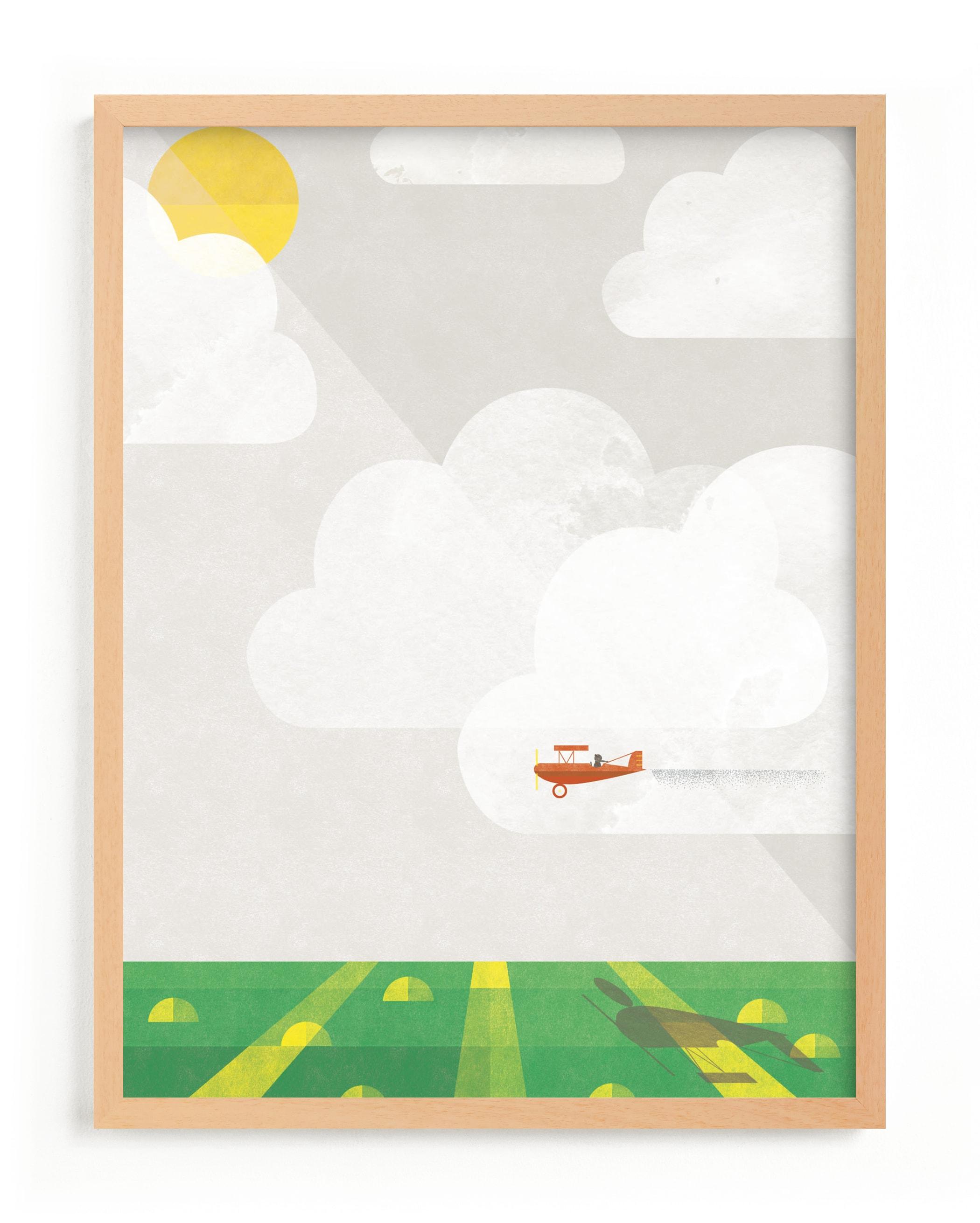 Sky Adventure Children's Art Print