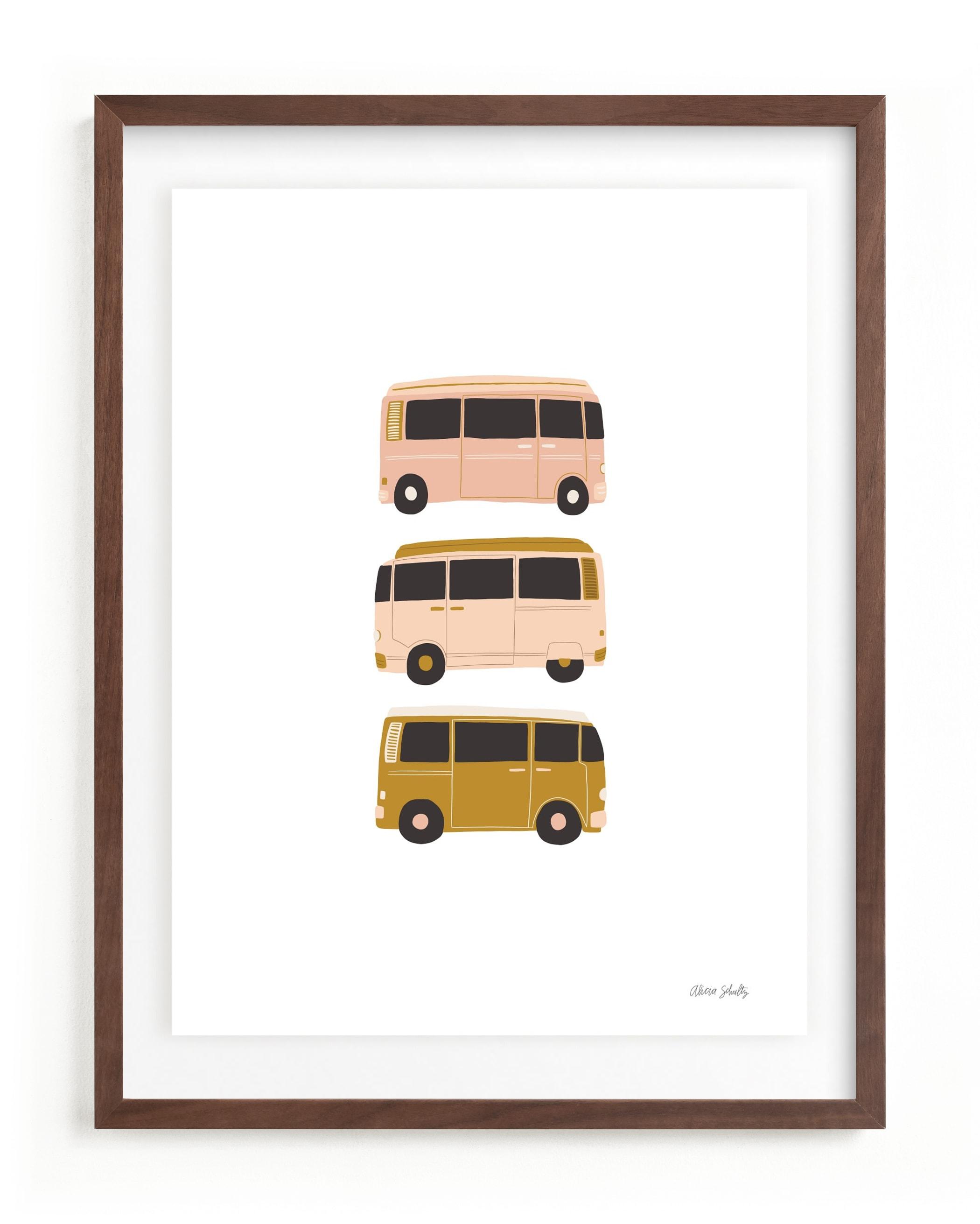 Vintage Van Crew Children's Art Print