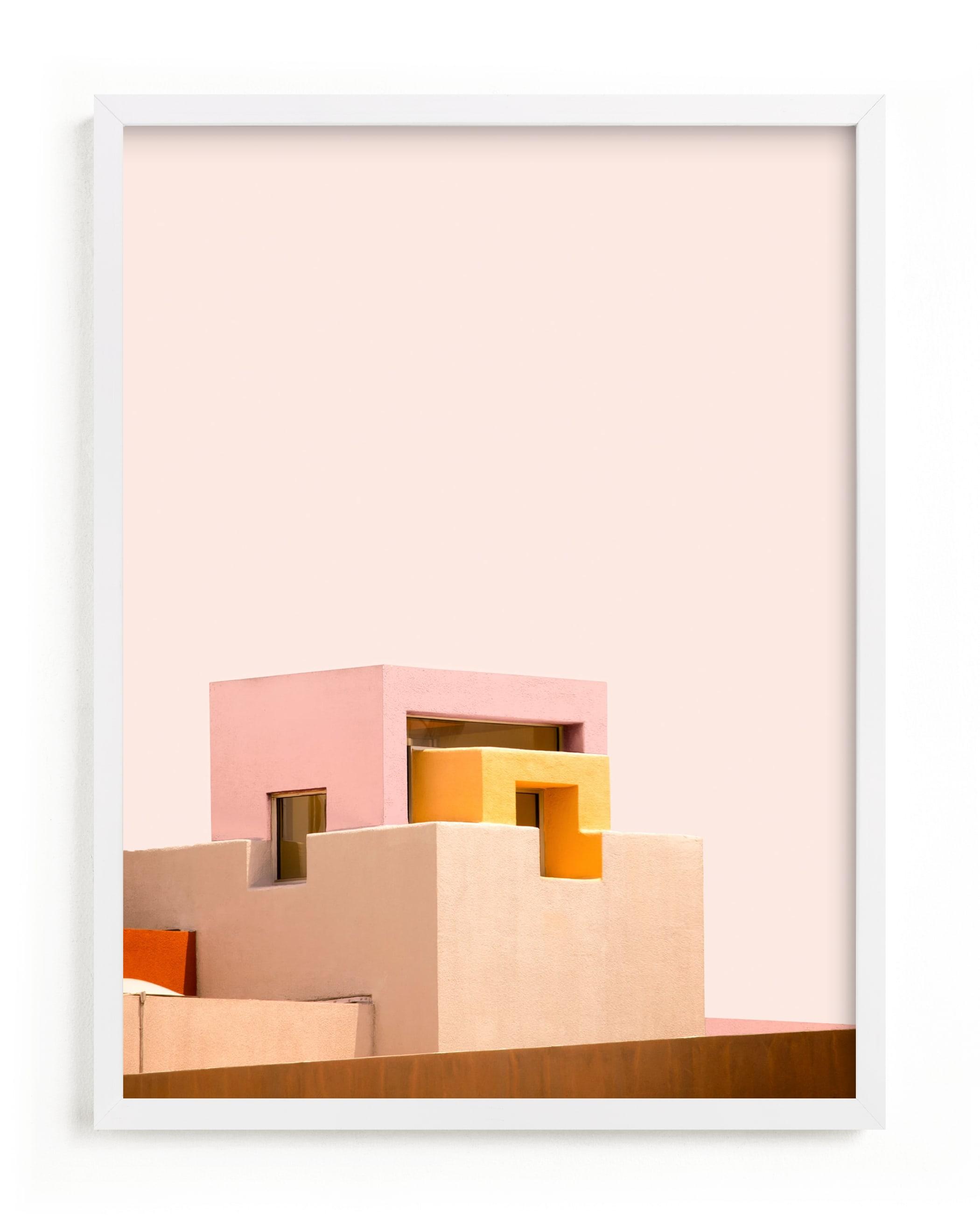 This is a pink art by Lisa Sundin called Urban Desert Series 3.