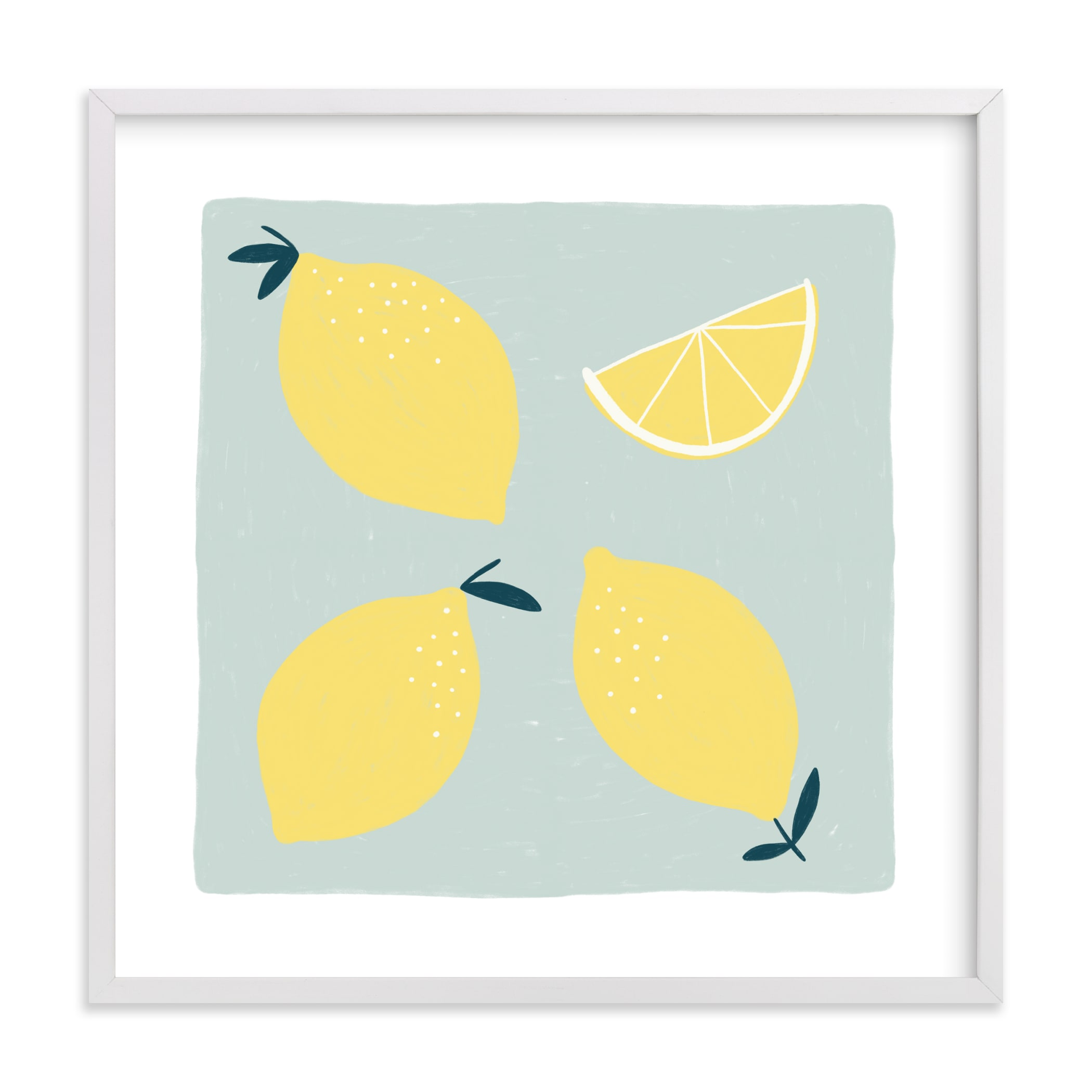 Lemon Wedge Children's Art Print