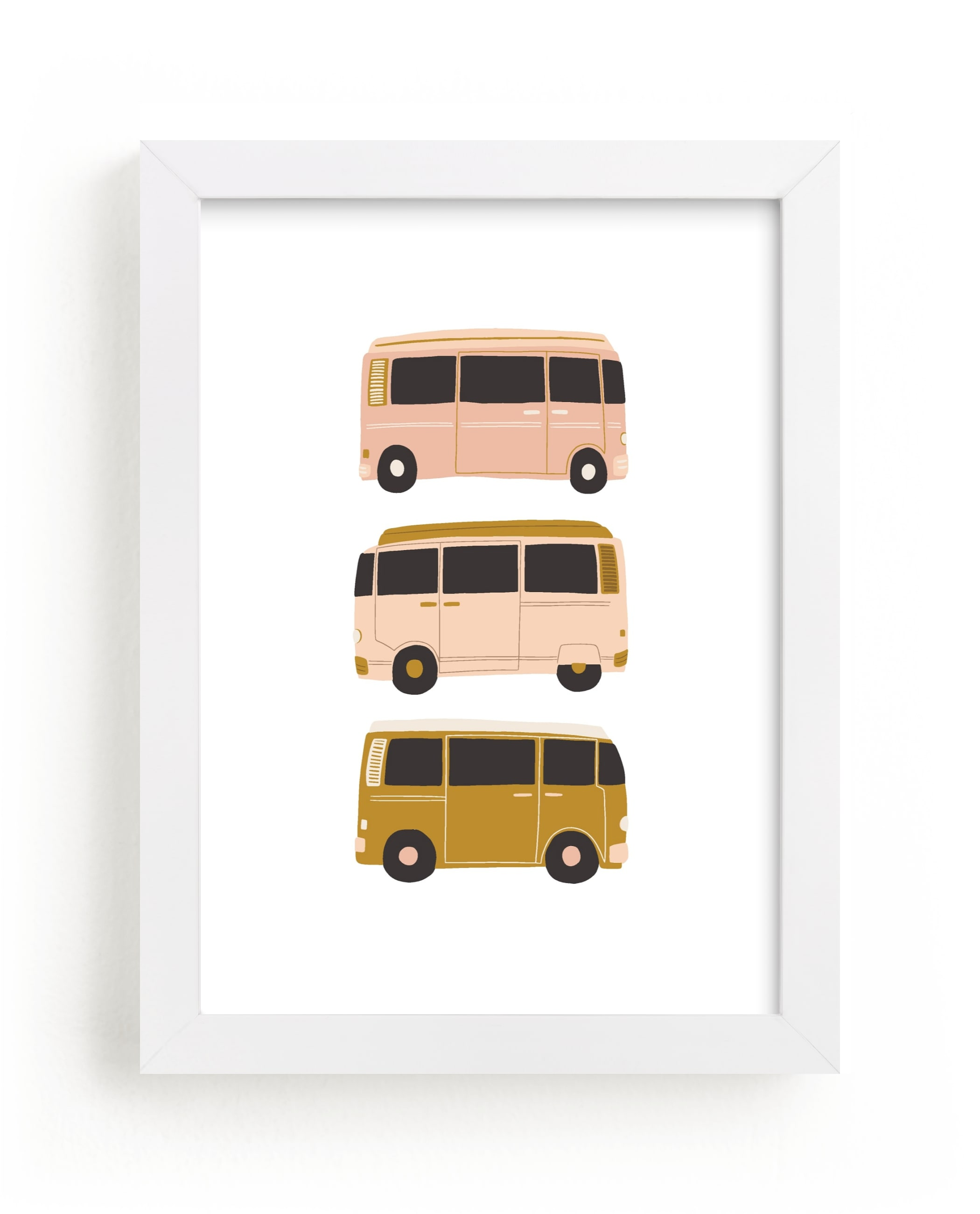 """Vintage Van Crew"" - Limited Edition Art Print by Vine and Thistle in beautiful frame options and a variety of sizes."
