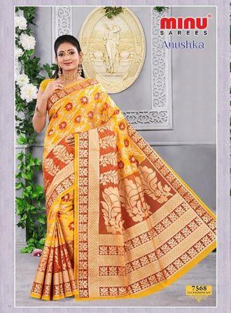 Minu Multi Cotton Printed Fashionable Sarees